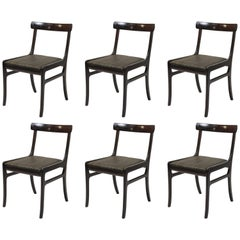 1960s Ole Wanscher set of Eight Mahogany Dining Chairs, Choice of Upholstery