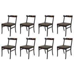 Ole Wanscher Set of Eight Refinished Mahogany Dining Chairs, Inc. Reupholstery