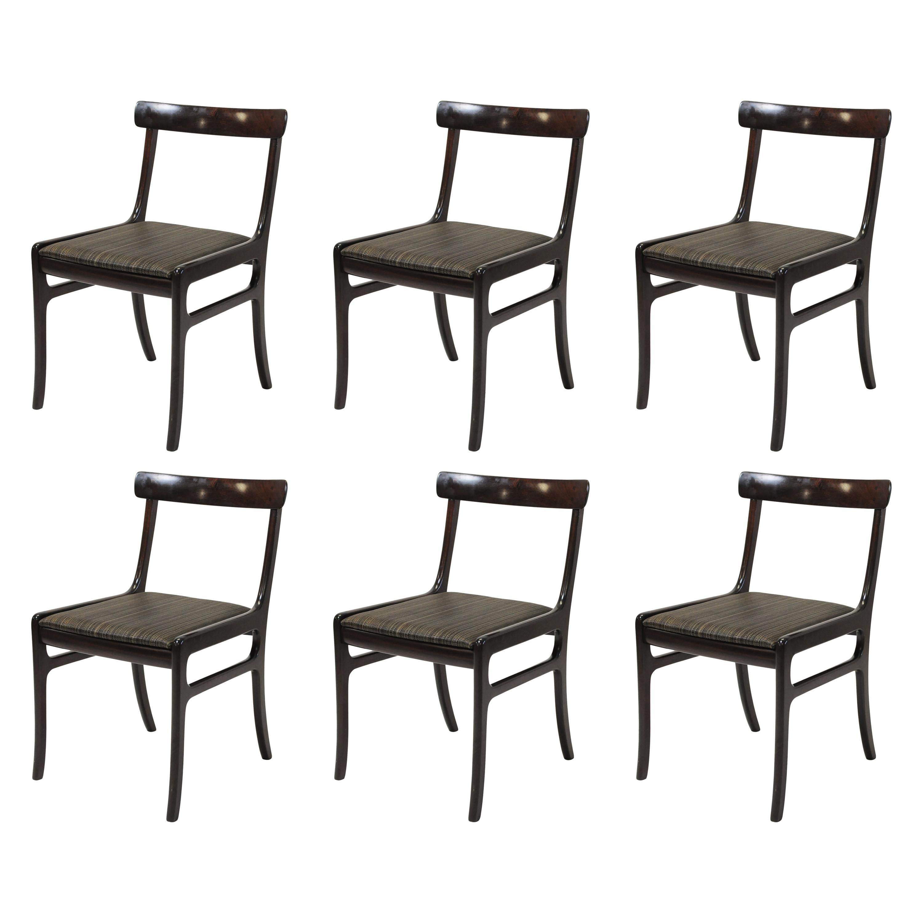 Ole Wanscher set of Six Refinished Mahogany Dining Chairs, Inc. Reupholstery