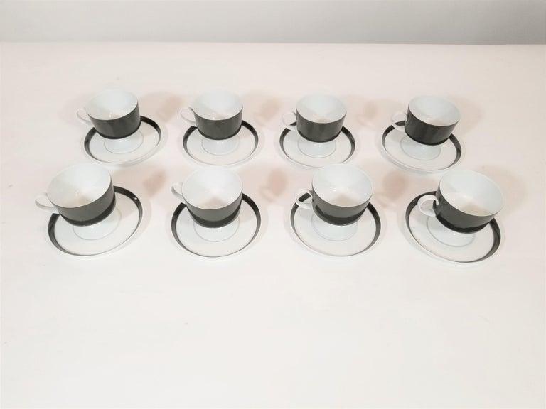 1960s Olive Rosenthal, Continental Midcentury Porcelain Service for 8 / 63 Pcs 9