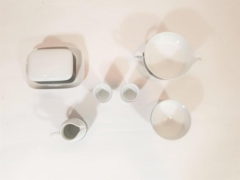 1960s Olive Rosenthal, Continental Midcentury Porcelain Service for 8 / 63 Pcs 12