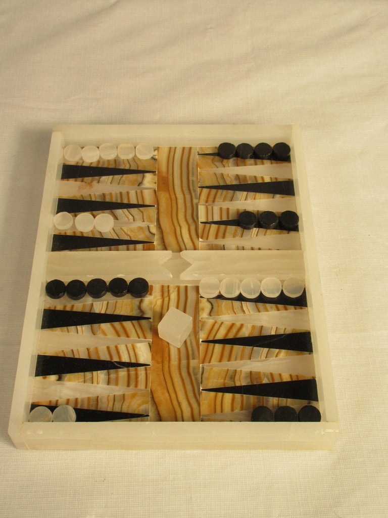 1960s Onyx And Marble Backgammon Set For Sale At 1stdibs