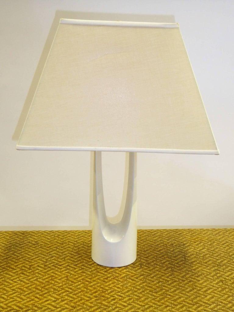 Metal 1960s Op to Pop Laurel Lamp Hairpin Form For Sale