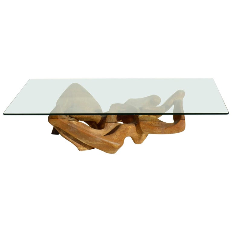 1960s Organic Sculpture Mid-Century Modern Design Coffee Table For Sale
