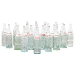 1960s Original French Glass Pepsi Bottles, Large Quantity Available