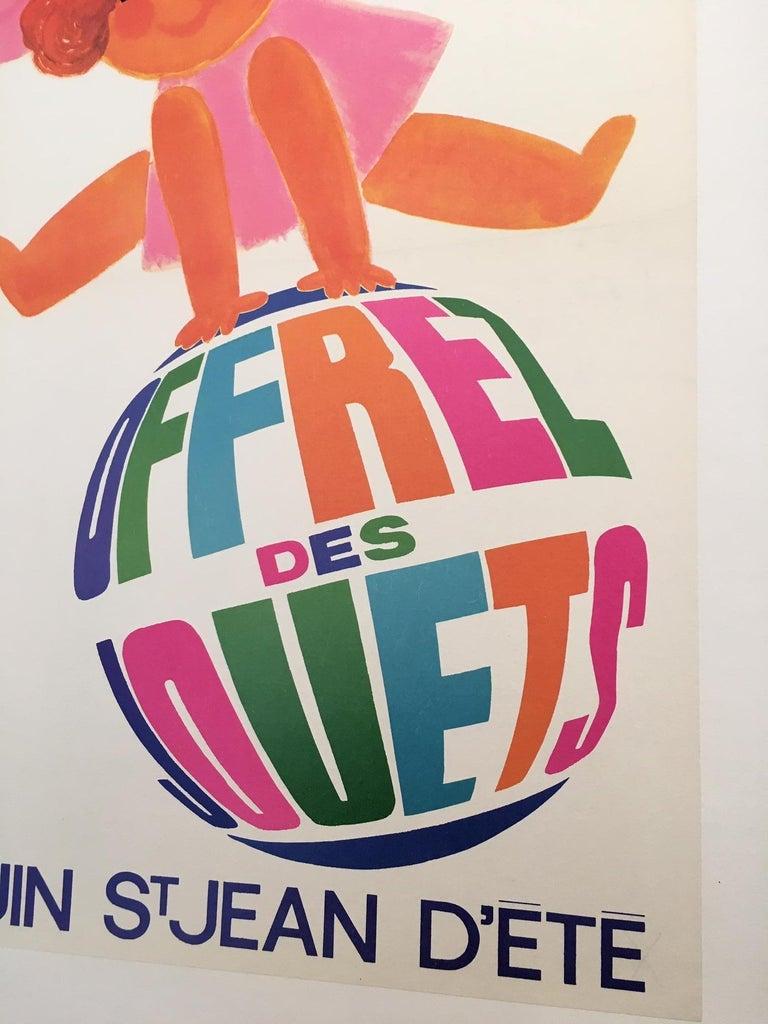 1960s Original Vintage French Poster, 'Fete Des Enfants' by Raoul Eric Castel In Good Condition For Sale In Melbourne, Victoria