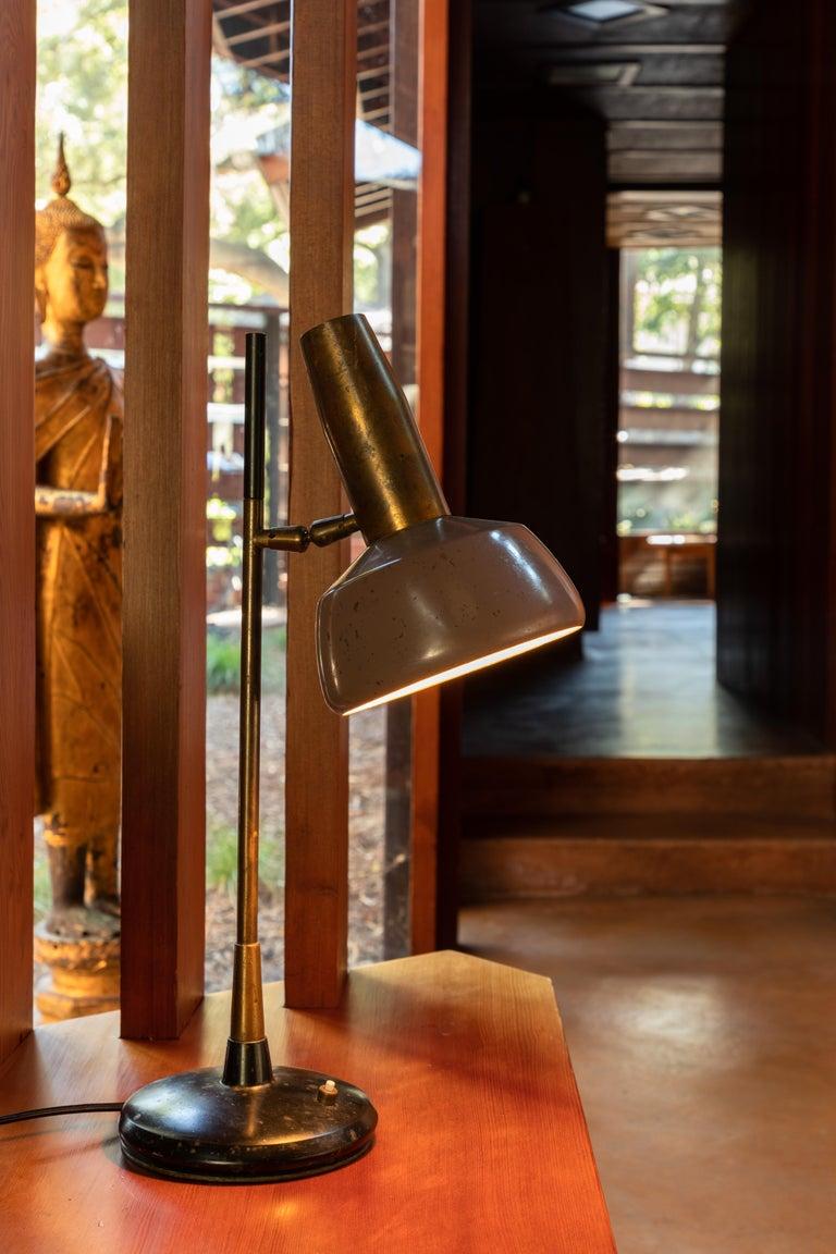 Mid-Century Modern 1960s Oscar Torlasco Table Lamp for Lumi For Sale