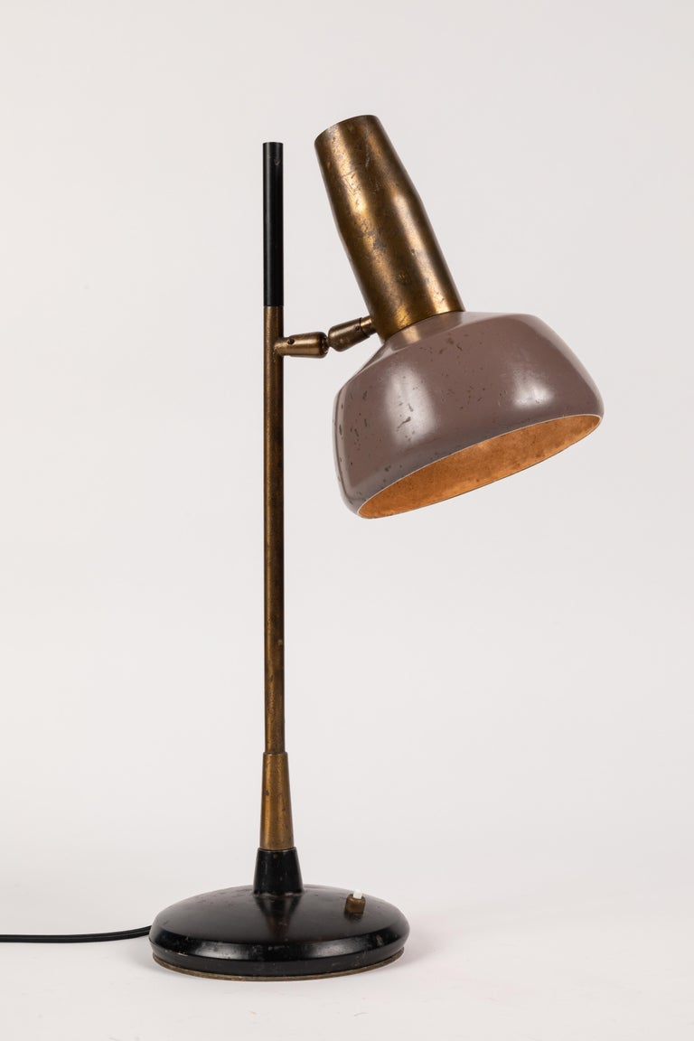 Painted 1960s Oscar Torlasco Table Lamp for Lumi For Sale