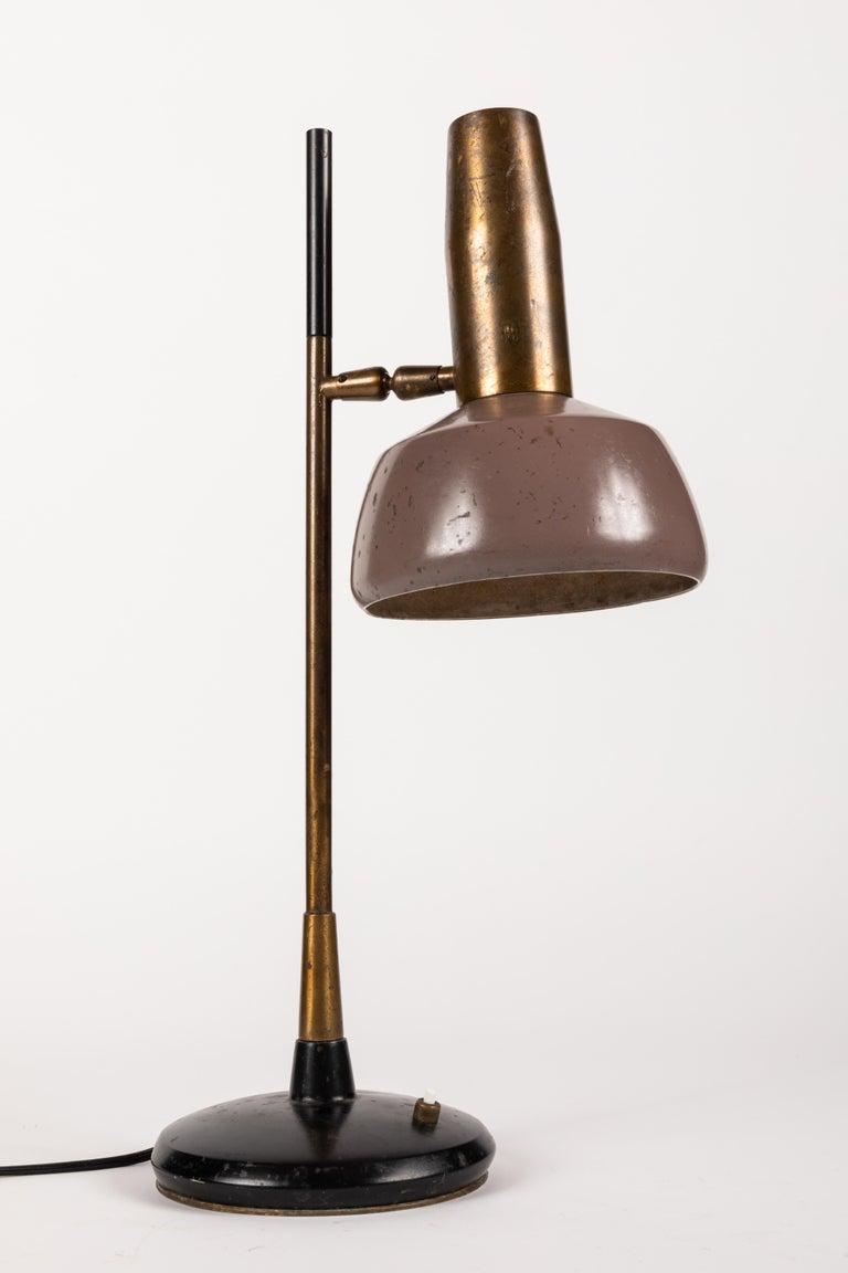 Aluminum 1960s Oscar Torlasco Table Lamp for Lumi For Sale