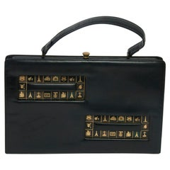 1960s Oversized Handbag with Paris Theme