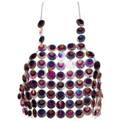 1960s Paco Rabanne Style Sequin Chainmail Top