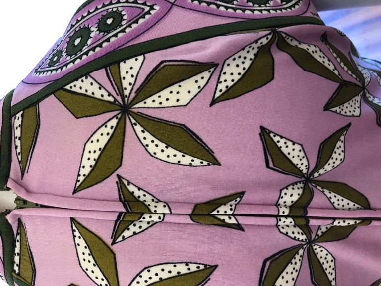 1960s Paganne by Gene Berk Dress with Turn of the Century Graphics - Signed For Sale 2