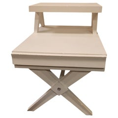 1960s Painted white Midcentury 2 -Tier Side Table