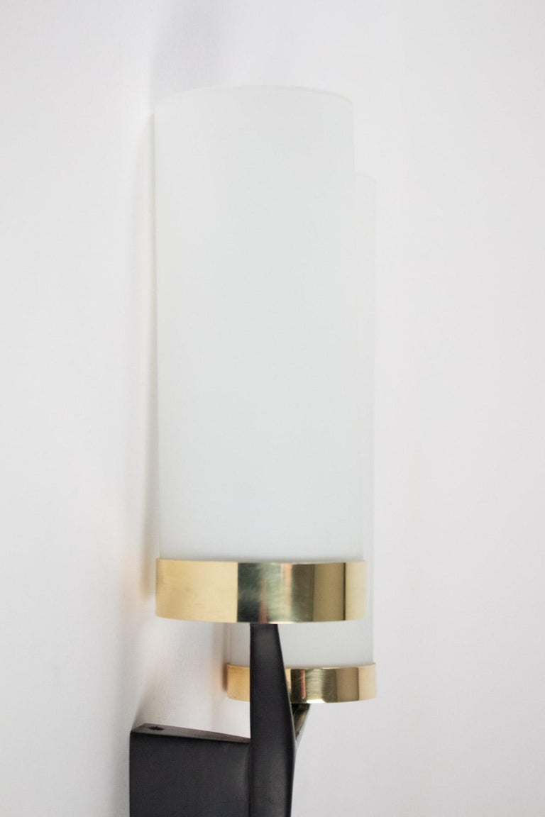 Mid-20th Century 1960s Pair of Arlus Sconces For Sale