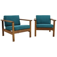 1960s Pair of Danish Beech Armchairs
