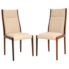 1960s Pair of Danish Side Chairs / Dining Chairs