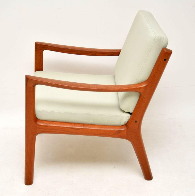 1960s Pair of Danish Teak Armchairs by Ole Wanscher For Sale 5