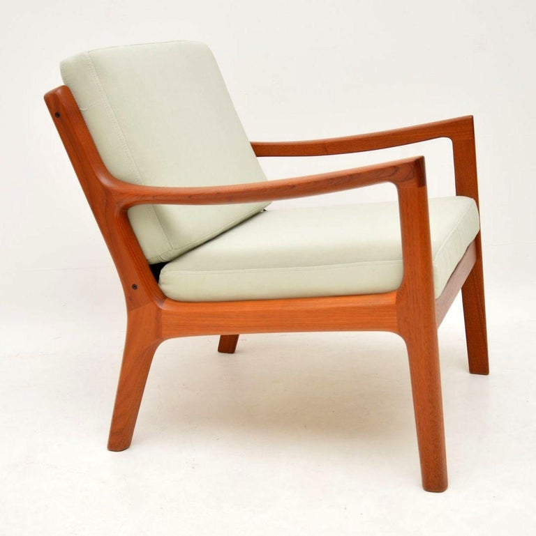 1960s Pair of Danish Teak Armchairs by Ole Wanscher For Sale 6