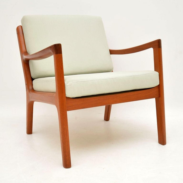 1960s Pair of Danish Teak Armchairs by Ole Wanscher In Good Condition For Sale In London, GB