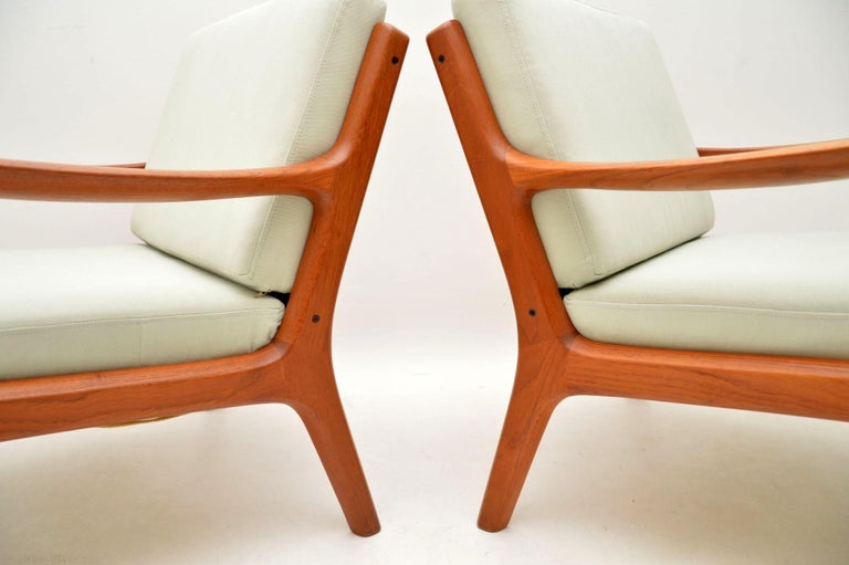 1960s Pair of Danish Teak Armchairs by Ole Wanscher For Sale 3