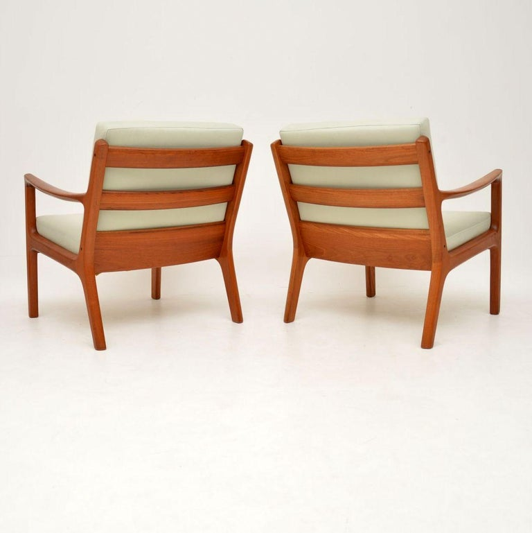 1960s Pair of Danish Teak Armchairs by Ole Wanscher For Sale 4