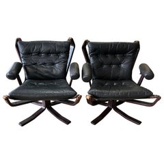 1960s Pair of Falcon Armchairs Designed by Sigurd Ressell with Vatne Mobler