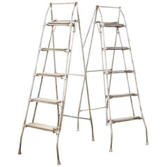 1960s Pair of French Folding Engineers Ladders