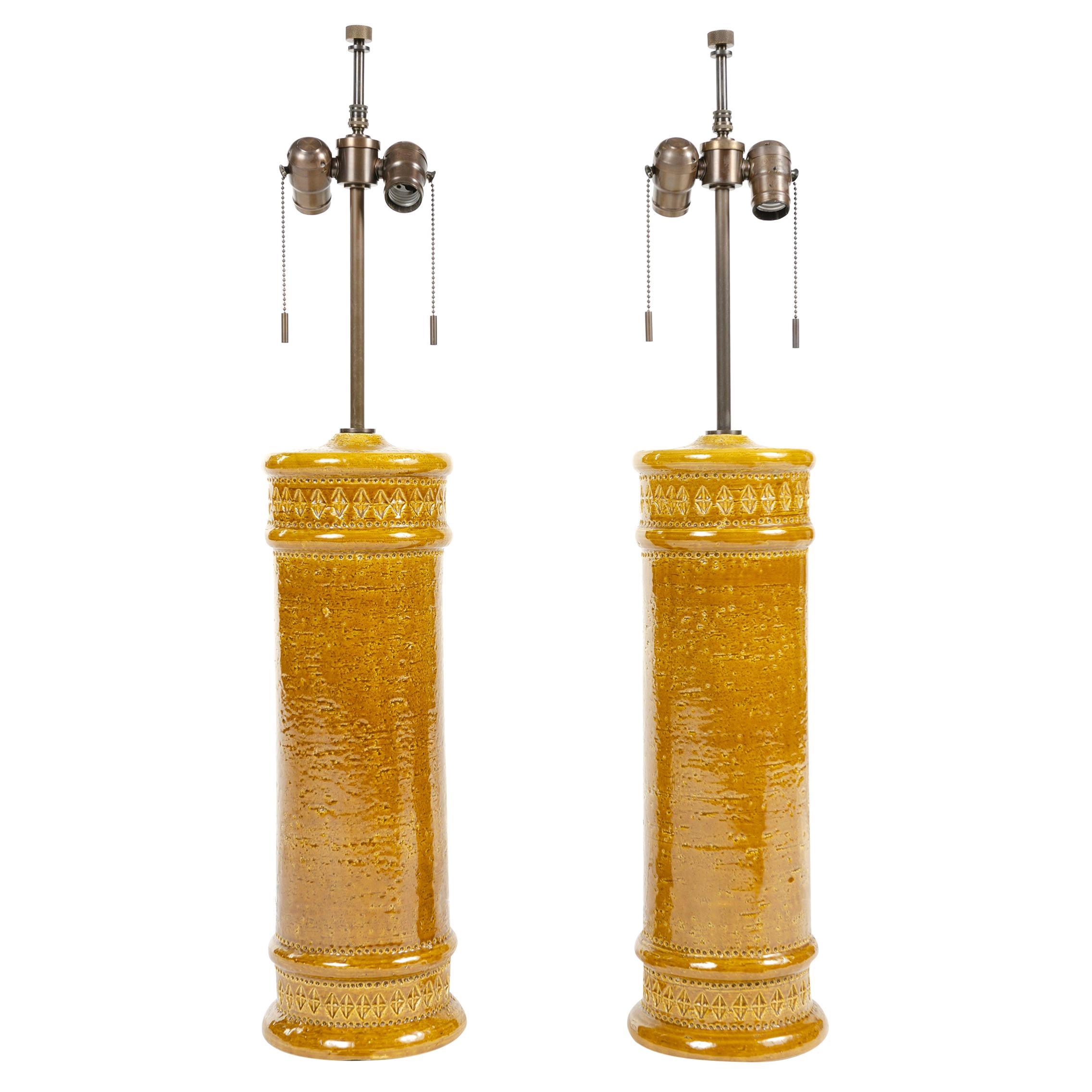 1960s Pair of Italian Ceramic Table Lamps