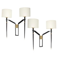 1960s Pair of Large Maison Honore Sconces