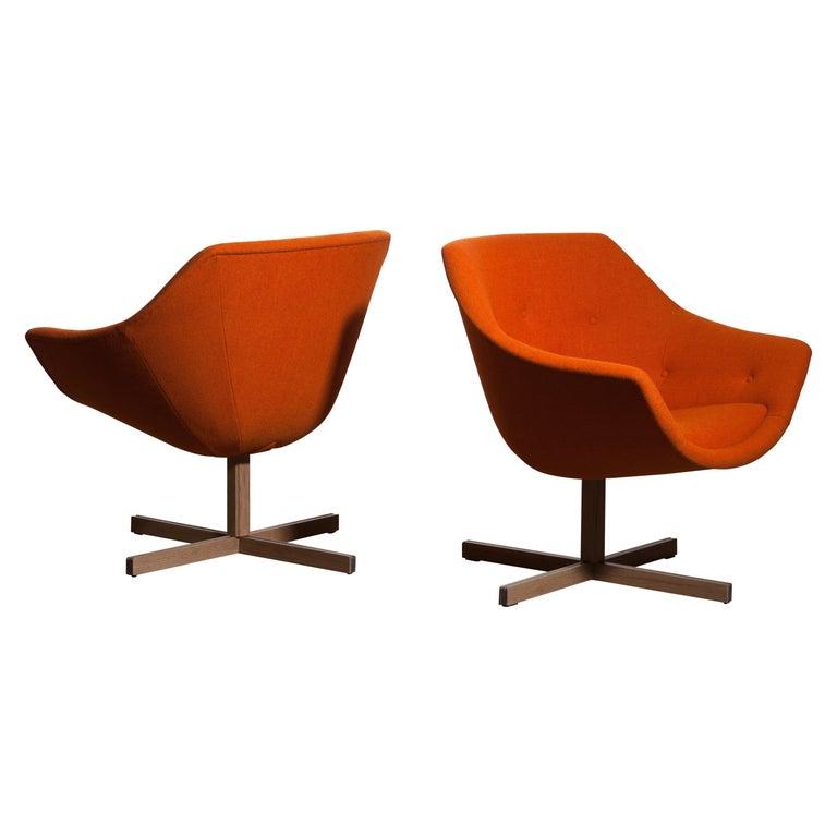 1960s, Pair of Mandarini Swivel Armchairs by Carl Gustaf Hiort and Nanna Ditzel 3