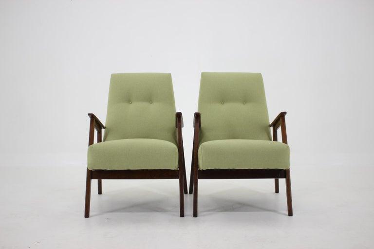 Mid-Century Modern 1960s Pair of Midcentury Armchairs ,Czechoslovakia For Sale