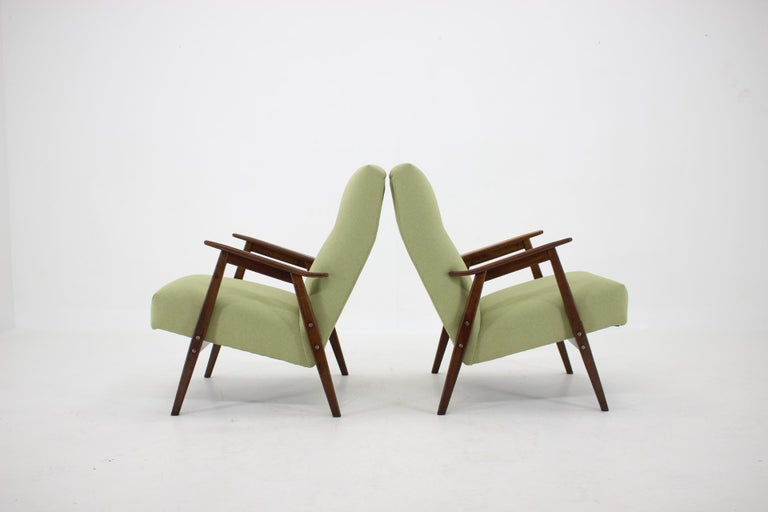 Mid-20th Century 1960s Pair of Midcentury Armchairs ,Czechoslovakia For Sale