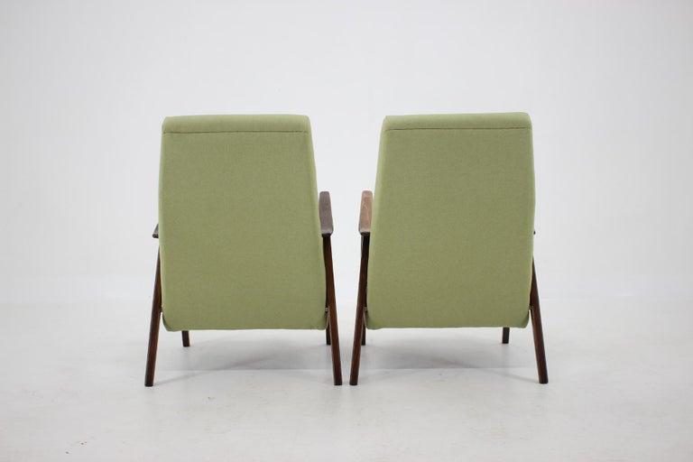 1960s Pair of Midcentury Armchairs ,Czechoslovakia For Sale 1