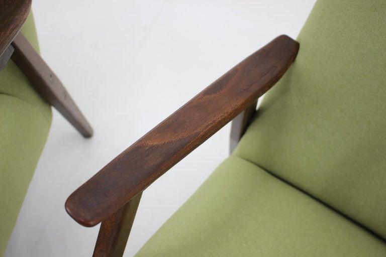 1960s Pair of Midcentury Armchairs ,Czechoslovakia For Sale 2