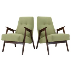 1960s Pair of Midcentury Armchairs ,Czechoslovakia