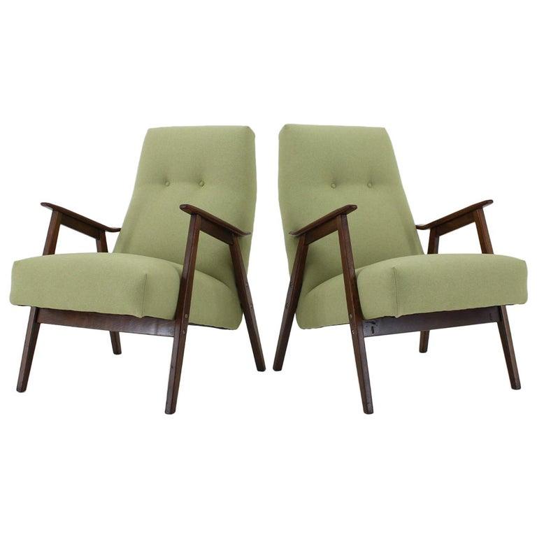 1960s Pair of Midcentury Armchairs ,Czechoslovakia For Sale