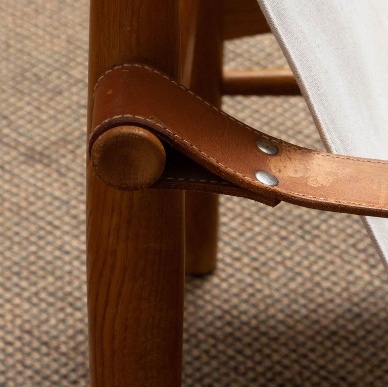 1960s, Pair of Safari Chairs by Hans Olsen for Viska Möbler in Kinna, Sweden 4