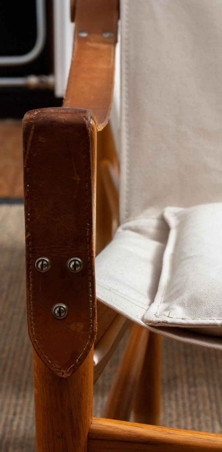 1960s, Pair of Safari Chairs by Hans Olsen for Viska Möbler in Kinna, Sweden 2