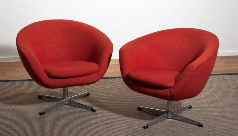 1960s, Pair of Swivel Lounge Chairs by Carl Eric Klote for Overman, Denmark 3