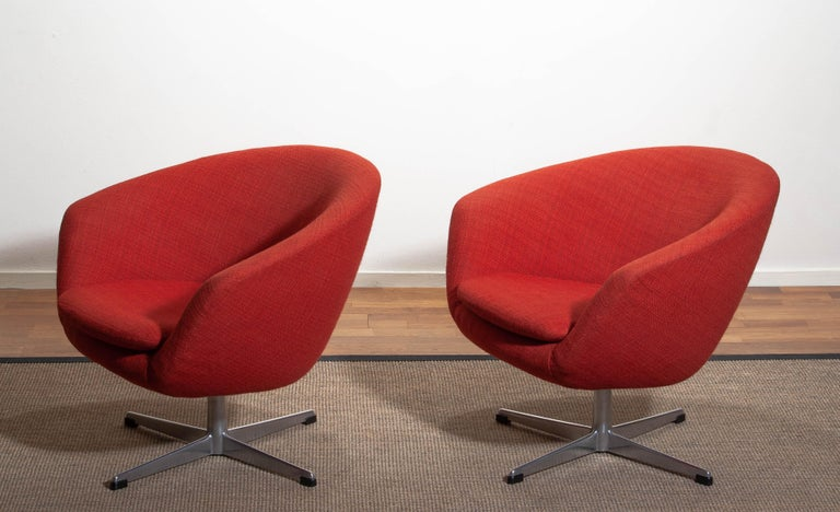 1960s, Pair of Swivel Lounge Chairs by Carl Eric Klote for Overman, Denmark 4
