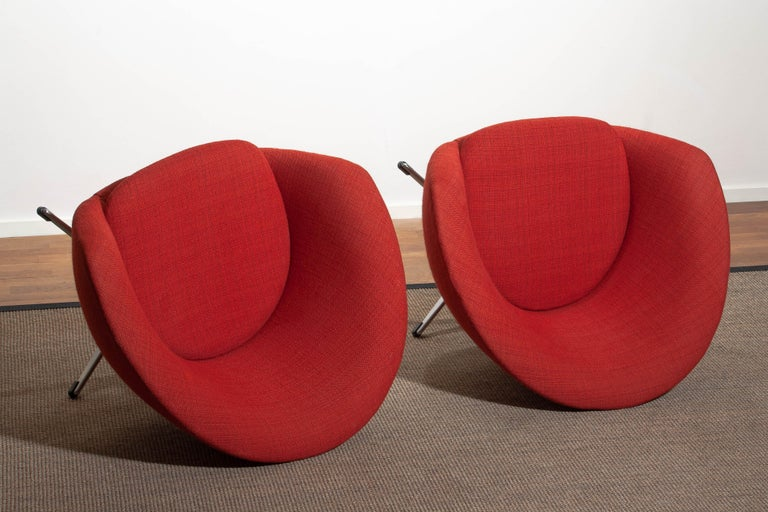 1960s, Pair of Swivel Lounge Chairs by Carl Eric Klote for Overman, Denmark 7