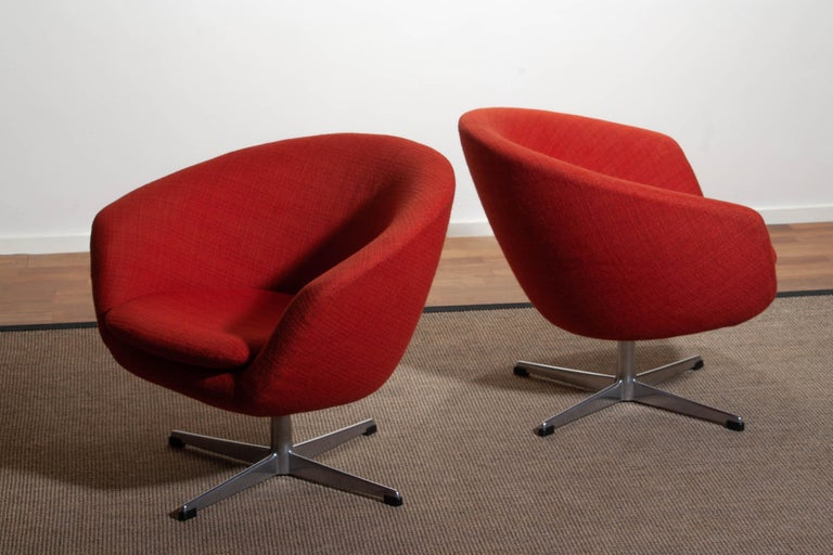 1960s, Pair of Swivel Lounge Chairs by Carl Eric Klote for Overman, Denmark 2
