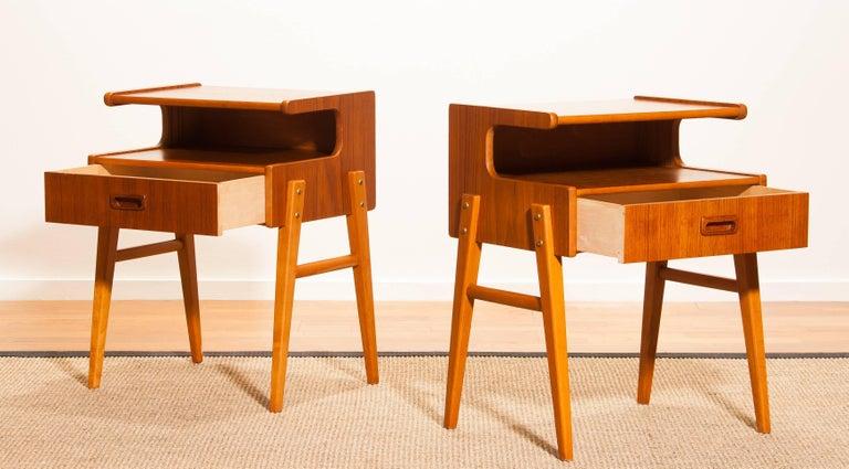 1960s Pair Of Teak 'Model C2' Bedside Tables For Sale At