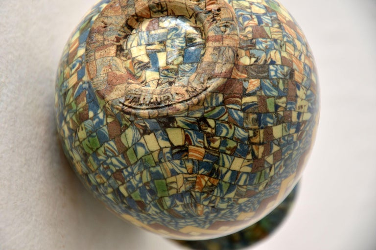 1960s Pair of Vallauris Ceramic 'Mosaic' Vases by Jean Gerbino 4