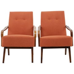 1960s Pair of Vintage Armchairs, Czechoslovakia