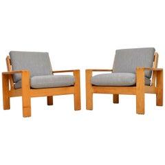 1960s Pair of Vintage Bonanza Armchairs by Esko Pajamies for Asko