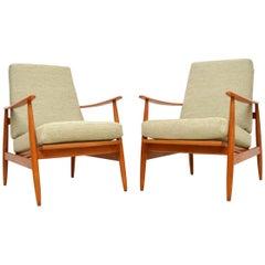 1960s Pair of Vintage Danish Armchairs