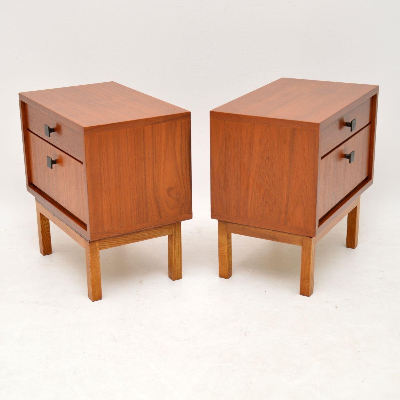 Vintage Danish Teak Bedside Cabinets
