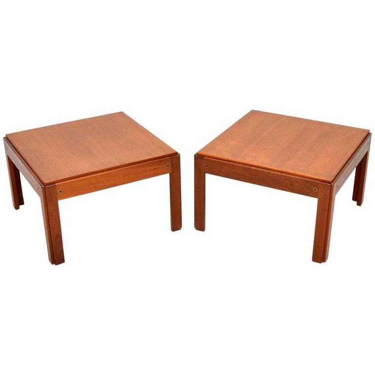 Danish Teak Side Table.1960s Pair Of Vintage Danish Teak Side Tables By Illum Wikkelso