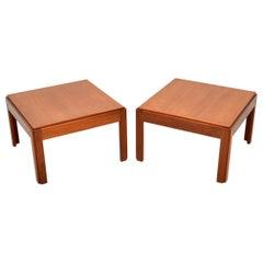 1960s Pair of Vintage Danish Teak Side Tables by Illum Wikkelso